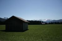 Alpine landscape in Germany.