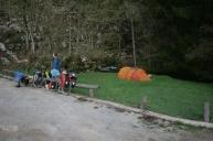 Wild camping in Croatia.