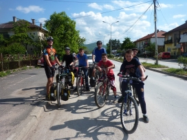 Our entourage in Kicevo.