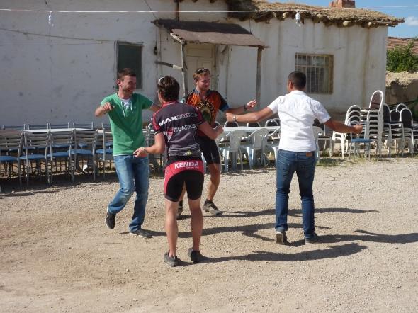 A Turkish dance-off. In Lycra.
