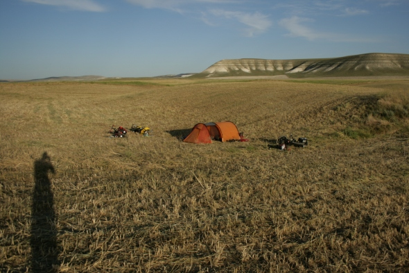 One of our campsites from the last week.