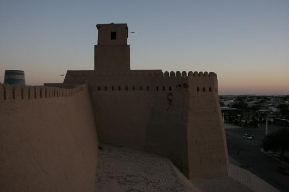 Khiva's battlements