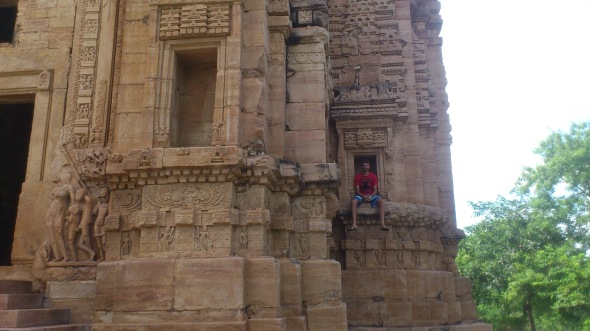 Perched on a 9th century temple, in Gwalior