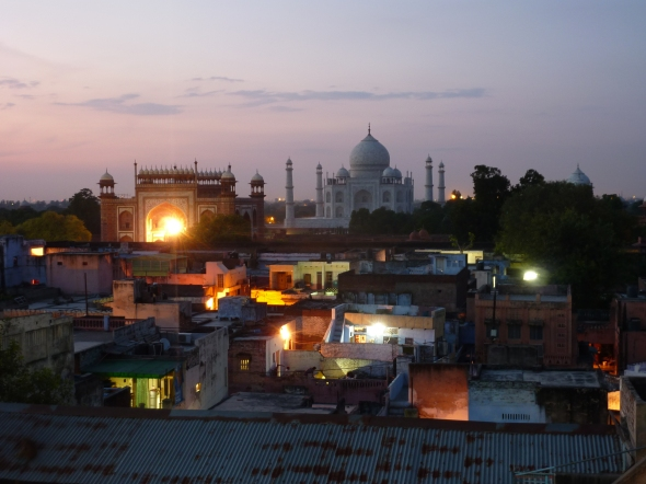 The view from our hostel