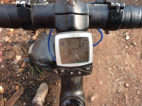 Finally, five digits! But only one front pannier.