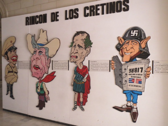 Some classy caricatures of Cuba's mortal foes